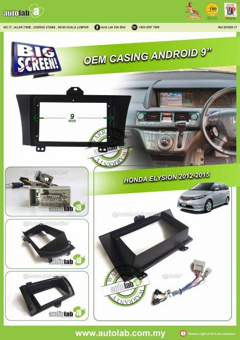 """Honda Elysion 2012-2015_9"""" Casing - Auto Lab Sdn Bhd"""
